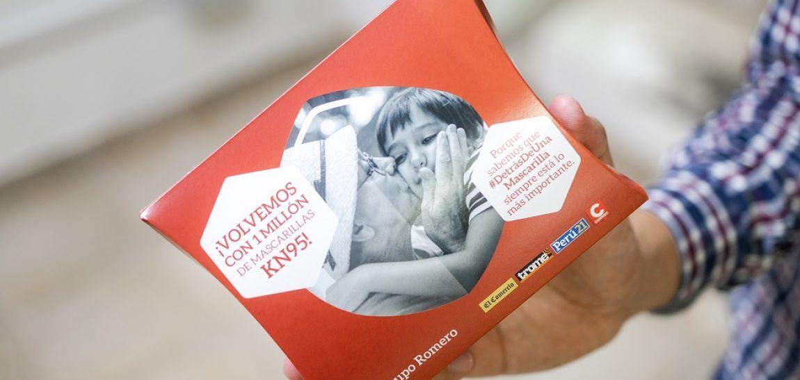 Grupo Romero entrega otra vez 1 MILLÓN de mascarillas KN95 con los diarios de Grupo El Comercio